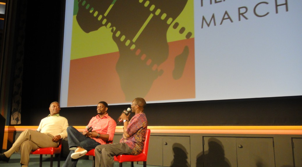 Executive Producer James E. Roberts and Director Kona Khasu take questions from TransAfrica Forum's Mwiza Munthali at the AFI following the film's screening