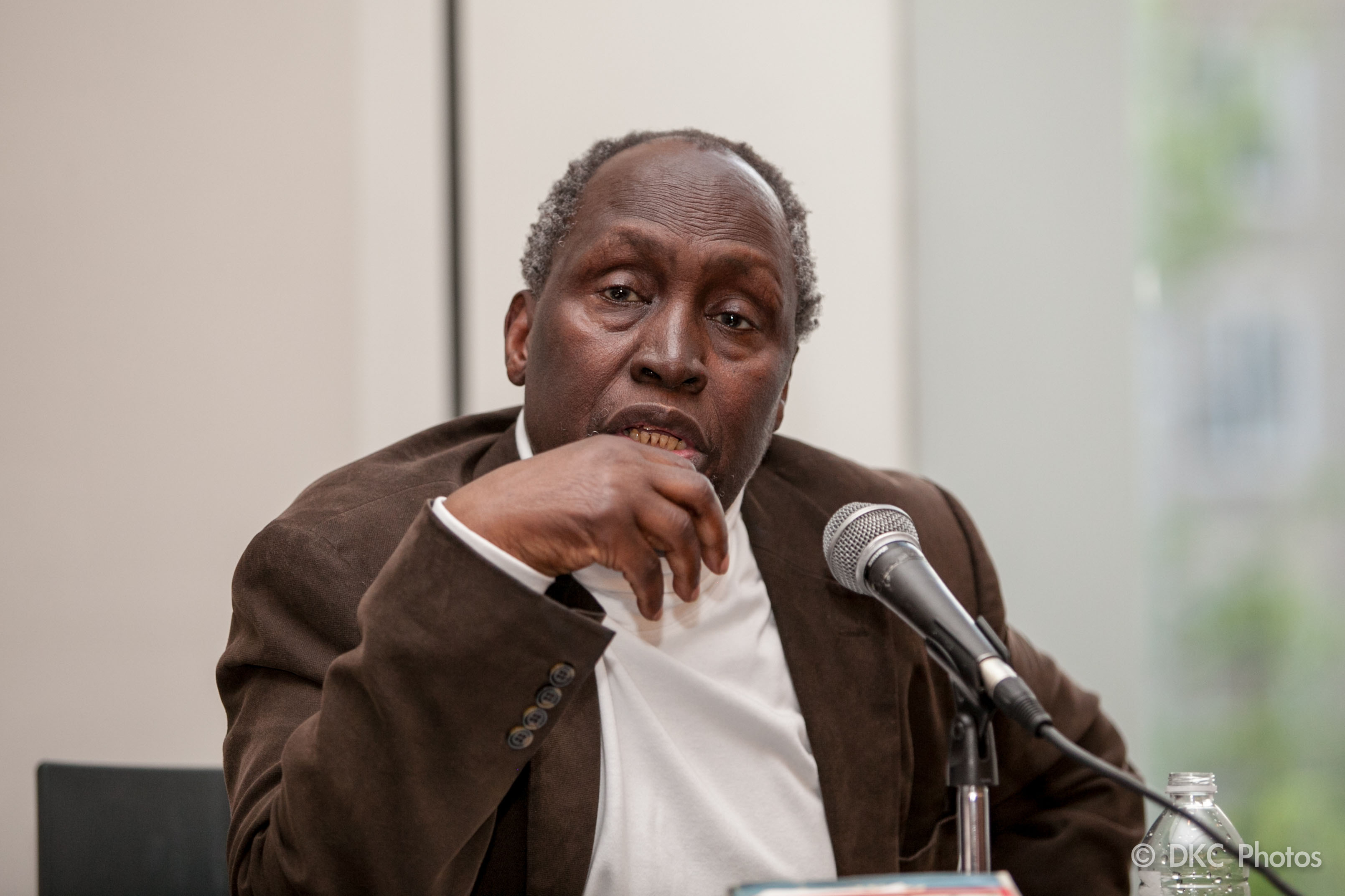 "ngugi wa thiongo Rosemary mcclure talks to legendary kenyan author ngũgĩ wa thiong'o about his short story, ""the upright revolution: or why humans walk upright."
